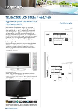 TELEWIZOR LCD SERIA 4 463/460