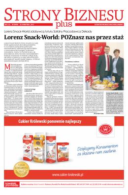 Lorenz Snack-World: POZnasz nas przez staż