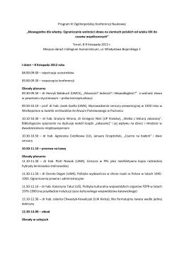 Program konferencji do pobrania w formacie PDF