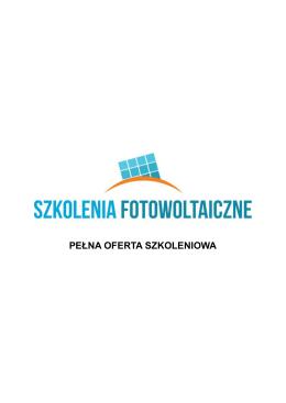 PEŁNA OFERTA SZKOLENIOWA - SzkoleniaFotowoltaiczne.pl