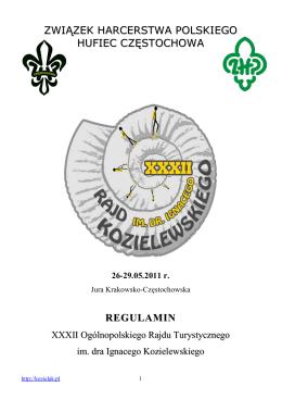 REGULAMIN-XXXII Rajd im. dra I. Kozielewskiego