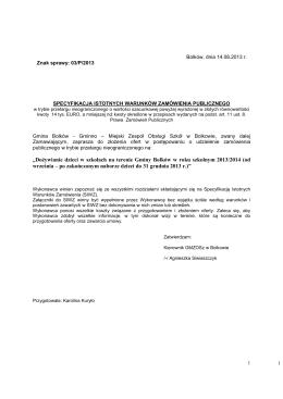 SIWZ 03/P/2013 - Biuletyn Informacji Publicznej, Urząd Miasta i
