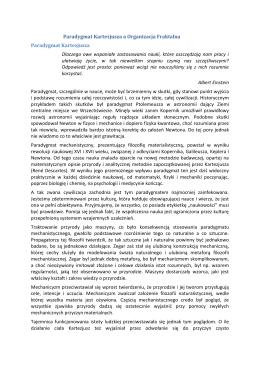 Paradygmat Kartezjusza a Organizacja Fraktalna