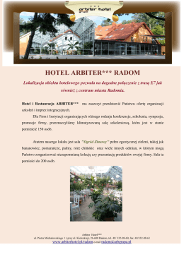 HOTEL ARBITER*** RADOM - Arbiter