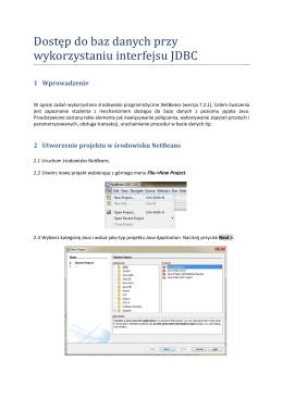 Dostęp do baz danych przy wykorzystaniu interfejsu JDBC