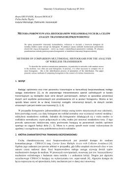 Metoda porównywania histogramów wielomodalnych dla celów