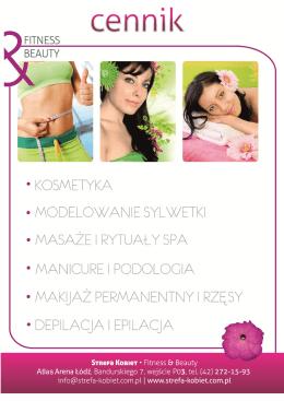 pobierz cennik - Strefa Kobiet fitness & beauty