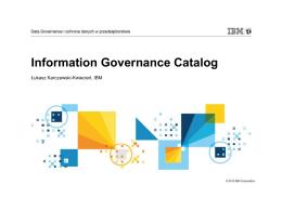 Information Governance Catalog