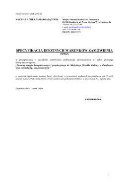 Zarząd Miasta w Zambrowie 18-300 Zambrów ul