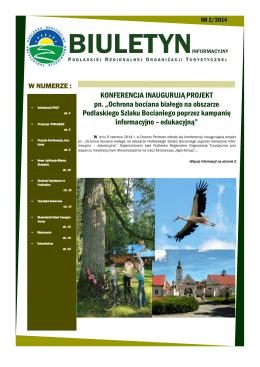 Biuletyn_2_2014.pdf - Podlaska Regionalna Organizacja Turystyczna