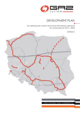 Development Plan for 2014 – 2023 - GAZ