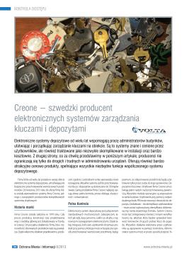 Creone − szwedzki producent elektronicznych systemów
