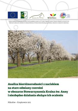 Analiza bioróżnorodności z naciskiem na stare odmiany czereśni w