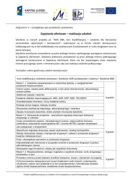 Załącznik nr 1 - ADR, BBS, kurs kwalifikacyjny