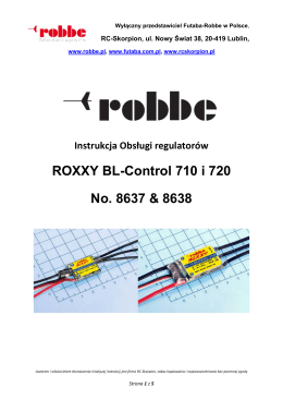 ROXXY BL-Control 710 i 720 No. 8637 & 8638