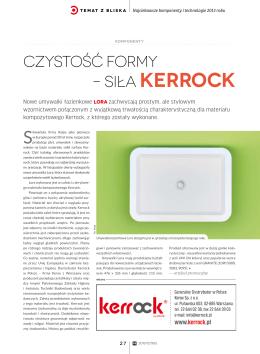 Czystość formy – siła Kerrock