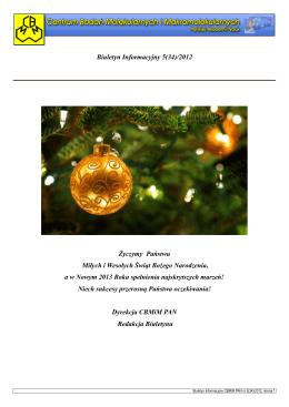 biuletyn 5 2012.pdf. 1,8 MB - Centrum Badań Molekularnych i