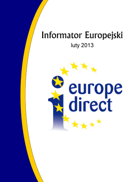 Informator Europejski – Luty 2013 - Europe Direct Bielsko
