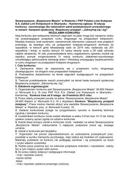 """Stowarzyszenie """"Bezpieczne Miasto"""" w Radomiu i PKP Polskie Linie"""