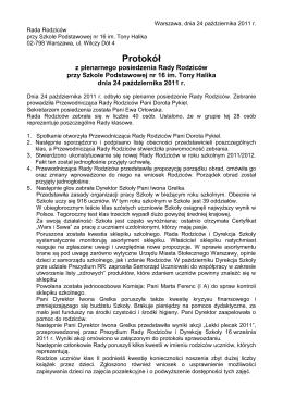 Rara Rodziców - Rada Rodziców SP16 w Warszawie im. Tony Halika
