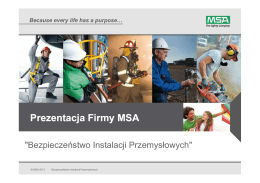 Łukasz Sionek, MSA Safety Sp. z o.o.
