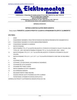 Instrukcja montażu słupów oświetleniowych (PDF)
