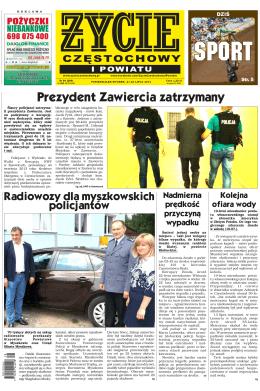 Prezydent Zawiercia zatrzymany - Życie Częstochowy i Powiatu online