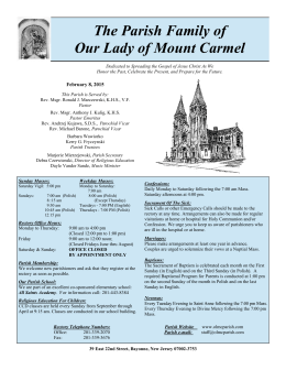 February 8, 2015 - Our Lady of Mt. Carmel
