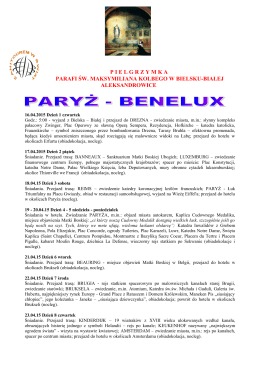 paryż - benelux - Parafia pw. Św. Maksymiliana Kolbe w Bielsku