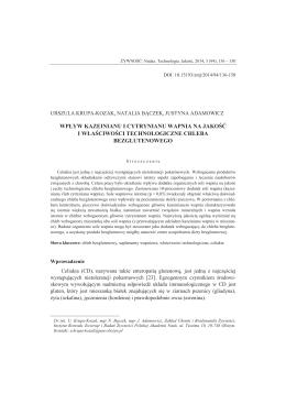 wpływ kazeinianu i cytrynianu wapnia na jakość i właściwości