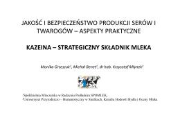 jakość i bezpieczeństwo produkcji serów i twarogów – aspekty