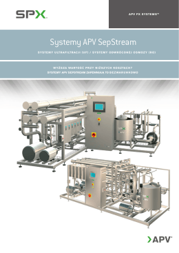 Systemy APV SepStream