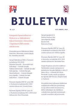 biuletyn luty-marzec, 2014 - Związek Nauczycielstwa Polskiego