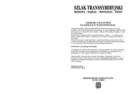 SZLAK TRANSSYBERYJSKI - fotograficznie kasia wronska