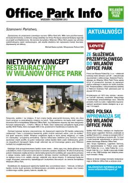 Przeczytaj Office Park Info Wrze / Paź 2012