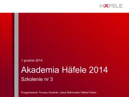 Akademia Häfele 2014 - STRONA GŁÓWNA