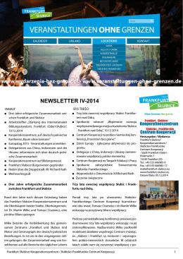Newsletter IV 2014 - Frankfurt