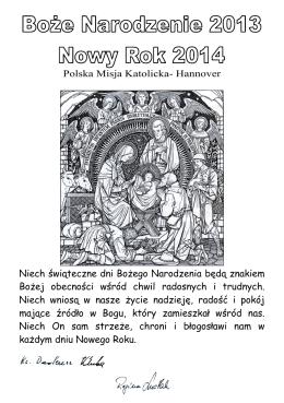 Polska Misja Katolicka- Hannover Niech świąteczne dni Bożego
