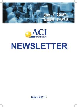 ACI Newsletter 07/2011 - Stowarzyszenie Rynków Finansowych ACI