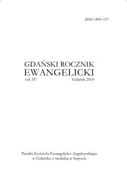 Rocznik 2010 - Gdański Rocznik Ewangelicki