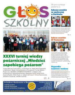 Pobierz>>> Głos Szkolny, wydany 25 lmarca 2013r.