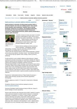 Wolters Kluwer - Konsorcjum Dolnośląskich Szpitali Powiatowych