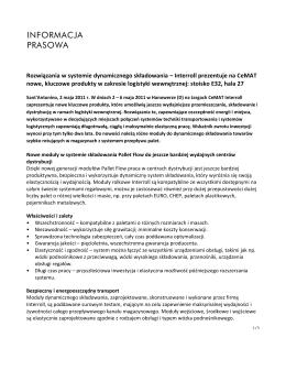 Rozwiązania w systemie dynamicznego składowania – Interroll