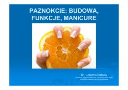 paznokcie: budowa, funkcje, manicure