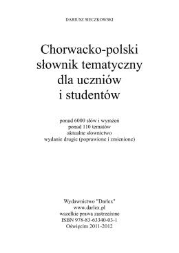 Chorwacko-polski słownik tematyczny dla uczniów i studentów