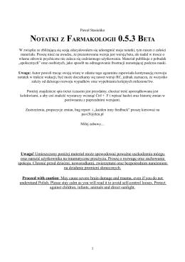 NOTATKI Z FARMAKOLOGII 0.5.3 BETA