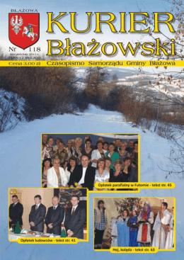 Kurier B³a¿owski nr 118 styczeń/luty 2011 - Miejsko