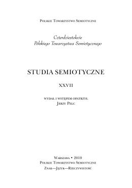STUDIA SEMIOTYCZNE