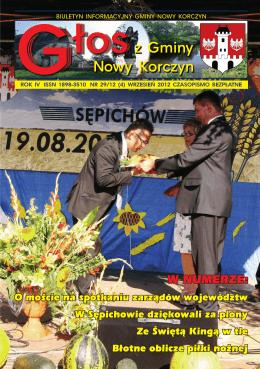 Głos z Gminy Nowy Korczyn Nr 29/12 (4) Wrzesień 2012r.