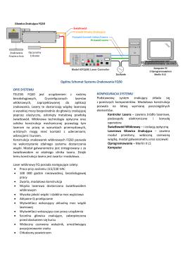 Ogólny Schemat Systemu Znakowania FQ50 OPIS SYSTEMU